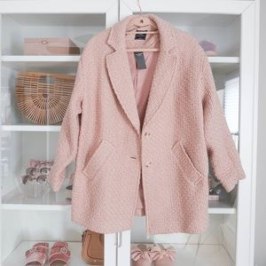 Abercrombie Pink Wool-Blend Overcoat